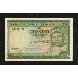 Mali Pick. 8 500 Francs 1960 VF
