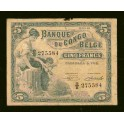 Belgian Congo Pick. 13B 5 Francs 1949-52 Fine