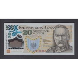 Polonia Pick. 187 20 Zlotych 2014 SC