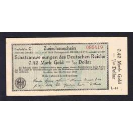 Alemania Pick. 148 0,42 Goldmark 1923 EBC