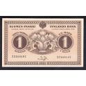Finland Pick. 33 25 Pennia 1918 UNC