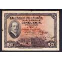 Edifil. B110 50 pesetas 17-05-1927 MBC