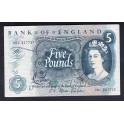 Inglaterra Pick. 375 5 Pounds 1963-71 EBC