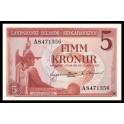 Islandia Pick. 37 5 Kronur 1957 SC