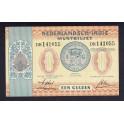 Indias Holandesas Pick. 108 1 Gulden 1940 MBC