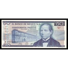 Mejico Pick. 65 50 Pesos 1973-78 SC-