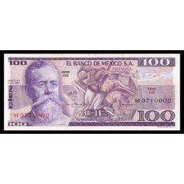 Mejico Pick. 66 100 Pesos 1974-78 SC-