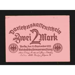 Alemania Pick. 62 2 Mark 1922 SC