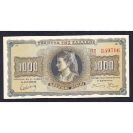 Grecia Pick. 118 1000 Drachmai 1942 EBC