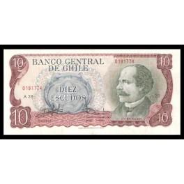 Chile Pick. 142 10 Escudos 1970 EBC