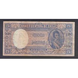 Chile Pick. 110 5 Pesos 1947-58 MBC