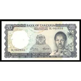 Tanzania Pick. 3 20 Shillings 1966 SC