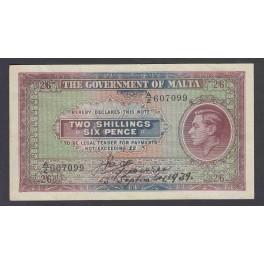 Malta Pick. 16 1 Shilling 1943 VF
