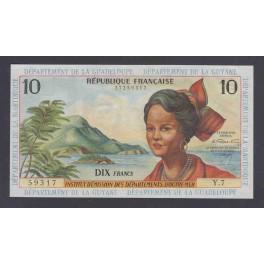 French Antilles Pick. 8 10 Francs 1964 XF
