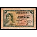 Edifil. C 14 5 pesetas 1935 MBC