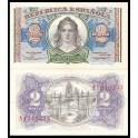 Edifil. C 44 2 pesetas 1937 SC