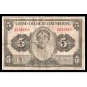 Luxemburgo Pick. 43 5 Francs 1944 MBC