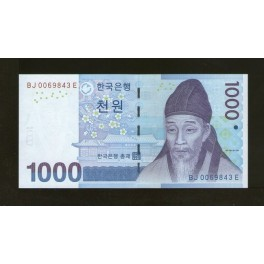 Corea del Sur Pick. 54 1000 Won 2007 SC