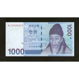 South Korea Pick. 54 1000 Won 2007 UNC