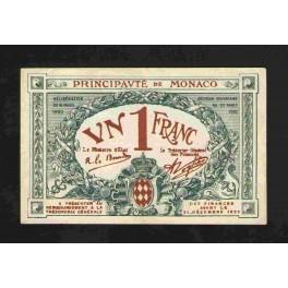 Monaco Pick. 5 1 Franc 1920 XF