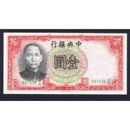 China Pick. 212 1 Yuan 1936 AU