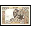 Costa de Marfil Pick. 103A 1000 Francs 1959-65 SC