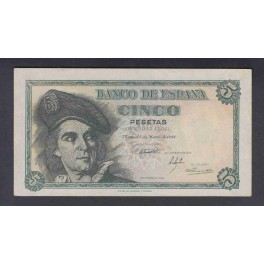 Edifil. D 56a 5 pesetas 05-03-1948 EBC