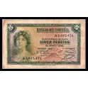 Edifil. C 14a 5 pesetas 1935 MBC