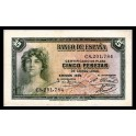 Edifil. C 14a 5 pesetas 1935 EBC