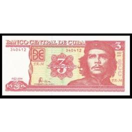 Cuba Pick. 123 3 Pesos 2004 SC