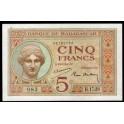 Madagascar Pick. 35 5 Francs 1937 EBC