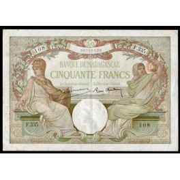 Madagascar Pick. 38 50 Francs 1937-47 MBC